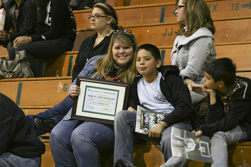 Athletics honors Cathy Neale and Julie St. John Gonzales