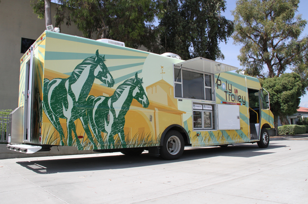 Poly Trolley brings students meals on wheels
