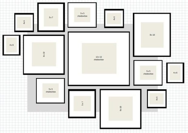 Frames laid out