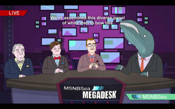 BoJack MSNBSea diverse panel of white men