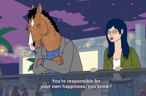 BoJack speaking to Diane about happiness