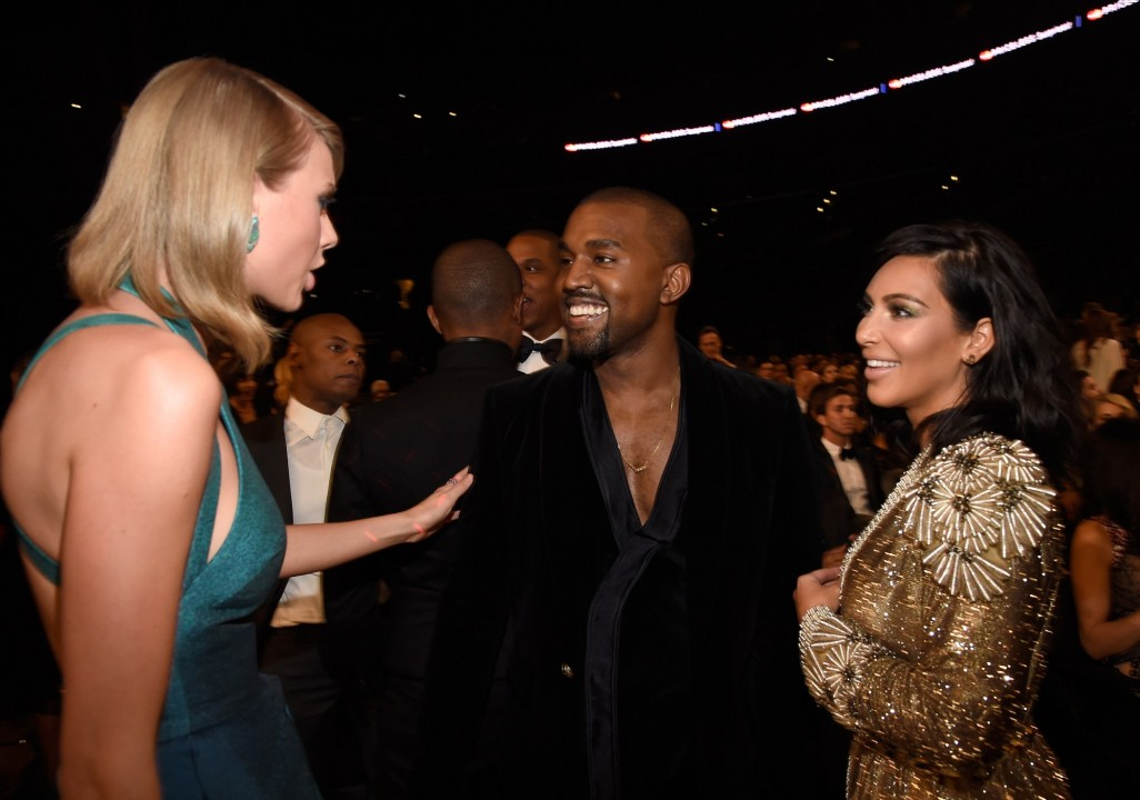 Taylor Swift with Kim and Kanye