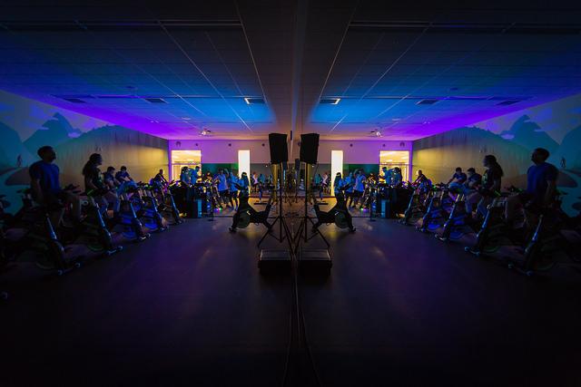 Black light spin room.