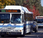 Photo of a Foothill Transit bus on the road