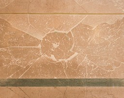 Two green lines on a brown background with a broken glass texture