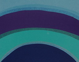 Abstract curved blue and teal lines