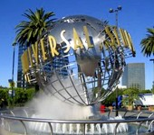 Photo of the Universal Studios logo statue