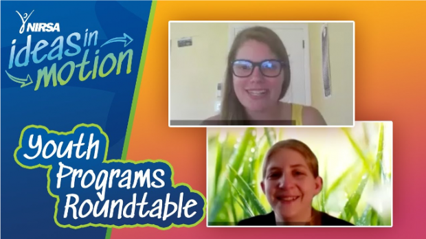 Two woman presenting at NIRSA online