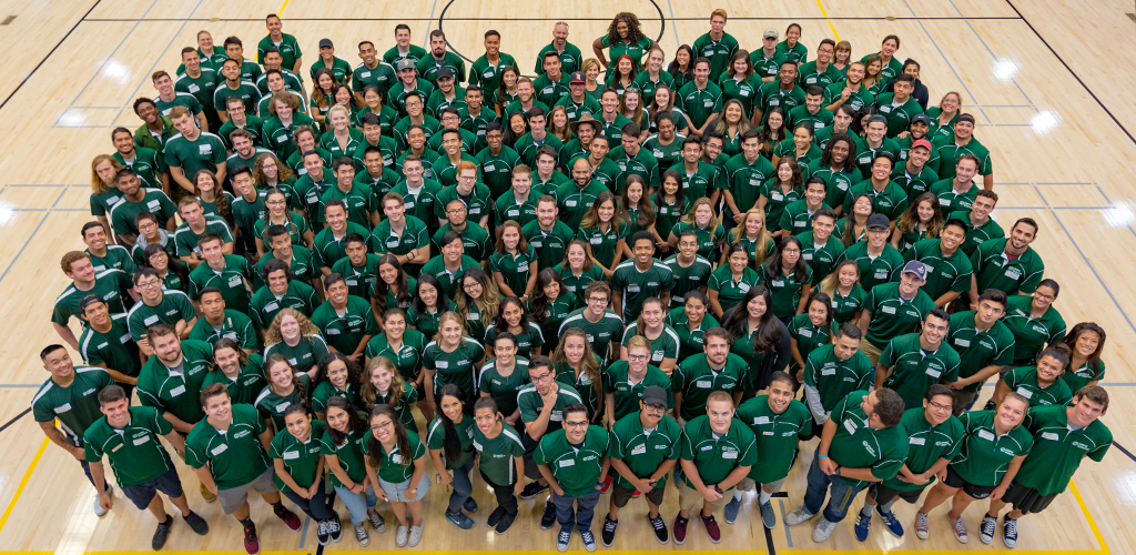 Overhead view of the entire ASI Campus Recreation staff
