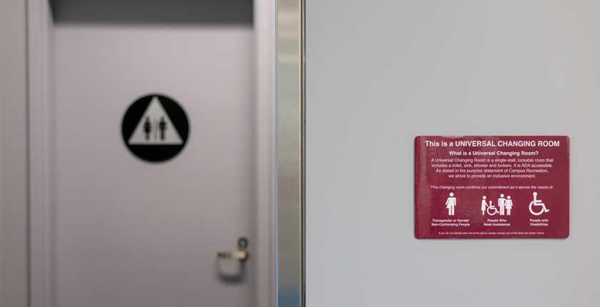 ADA accessible universal changing room