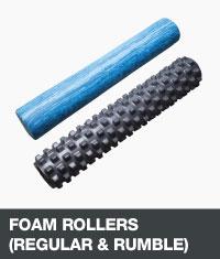 Regular foam roller and rumble roller