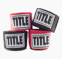 Red and black boxing handwraps