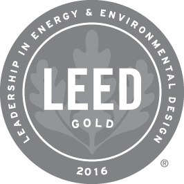 Leed gold award 2016