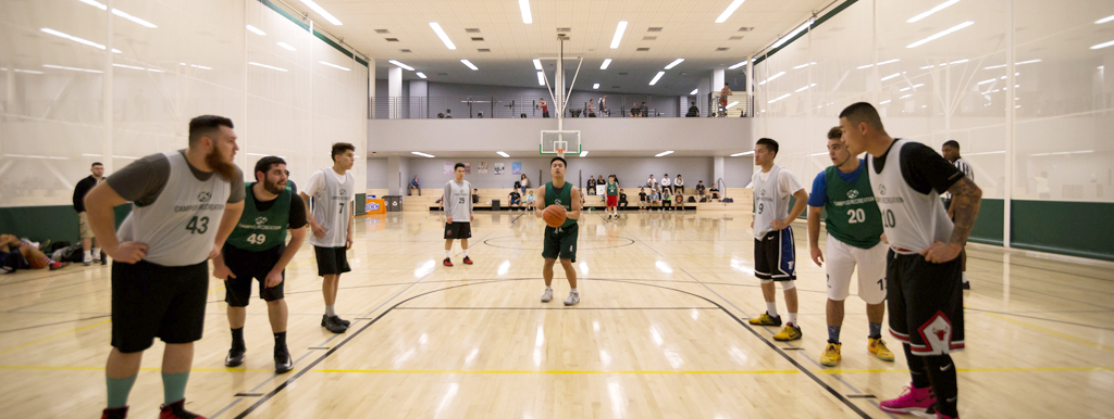 Student shooting a free-throw shot