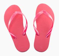 Pink flip flop sandals