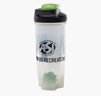 Shaker bottle with ASI Campus Recreation logo