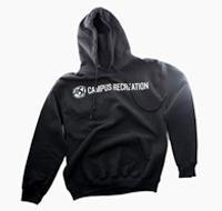 Black sweatshirt with ASI Campus Recreation logo
