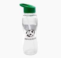 Clear water bottle with ASI Campus Recreation logo