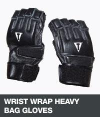 Wrist wrap heavy bag gloves