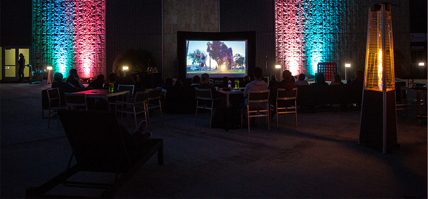 Movie playing at BRIC Lounge