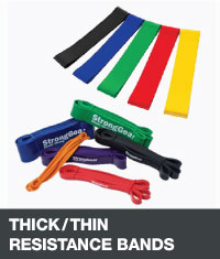Thick/thin resistance bands