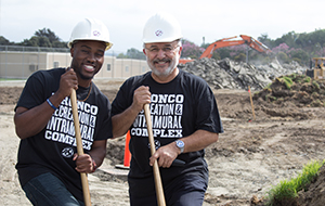 Two guys at a construction site
