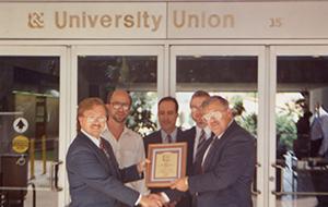 Plaque of university union creation