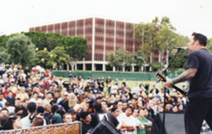 Students listening to a live concert