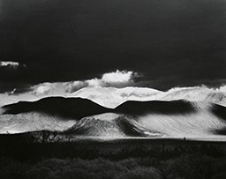 Black and white photo of Coso Range