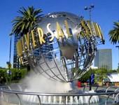 Universal Studios logo statue