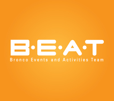 BEAT Event logo with an orange background