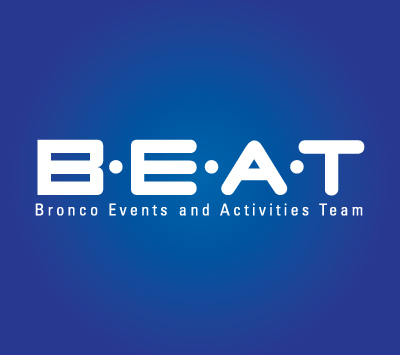 BEAT Event logo with a blue background