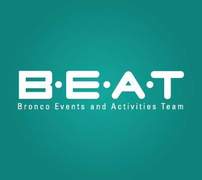 BEAT event logo with a teal background