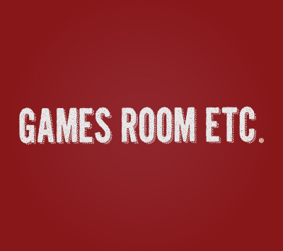 Games Room logo on a red background