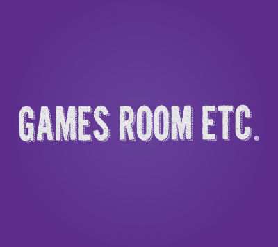 Games Room logo on a purple background