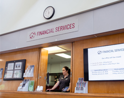 Front of the Financial Services office