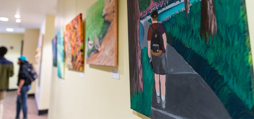 Artwork by CPP Student displayed at the BSC