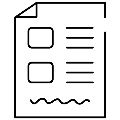 Electronic form icon