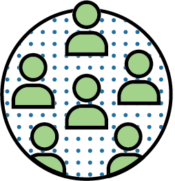 illustration icons of a group of individuals