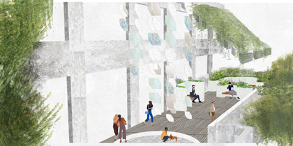 Porous Green Alley rendering