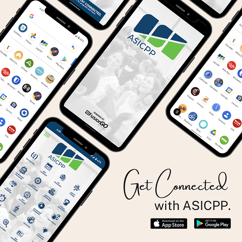 Get Connected with ASICPP. Download on App Store or Google Play